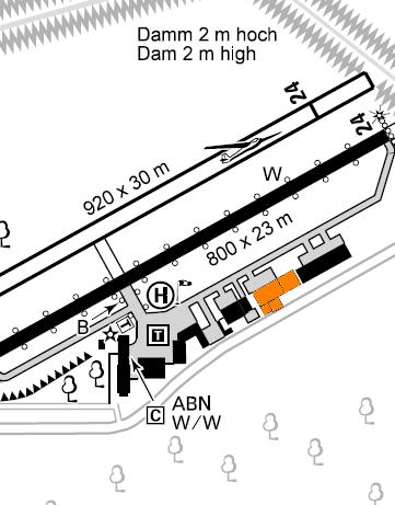 CAT Standort am Flugplatz EDFV